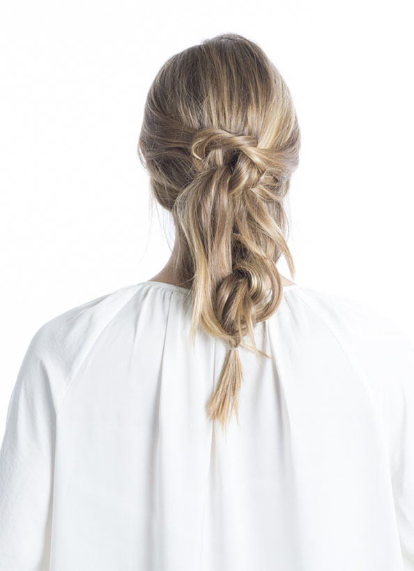 Day 3 - Knotted Up-Do | Step 2: Knot & Tie